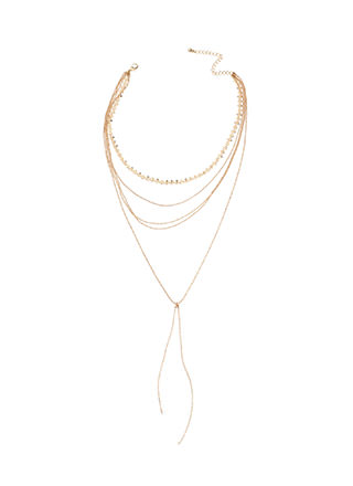 Dainty Surprise Layered Y-Necklace