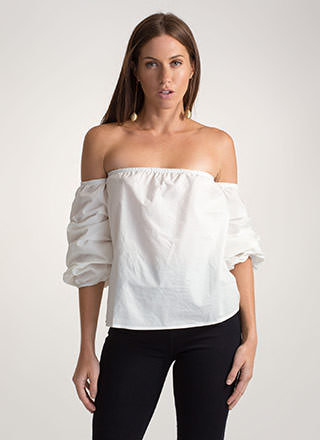 Perfect Ten Puffy Off-Shoulder Top