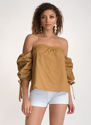 French Countryside Tied Off-Shoulder Top