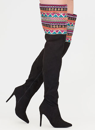 Boho Nomad Pointy Thigh-High Boots