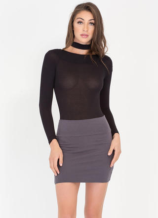 Fitted Mini Skirt