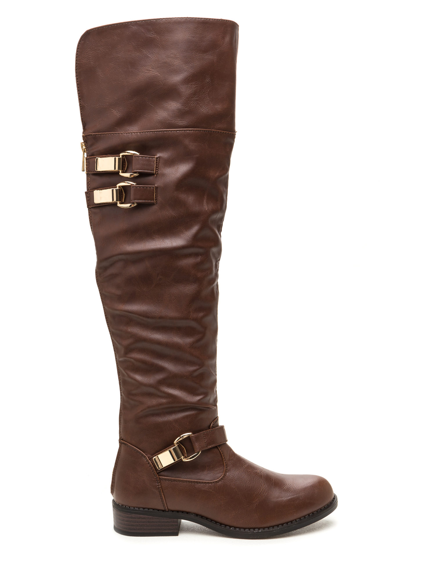 Moto Ride Tall Boots BROWN