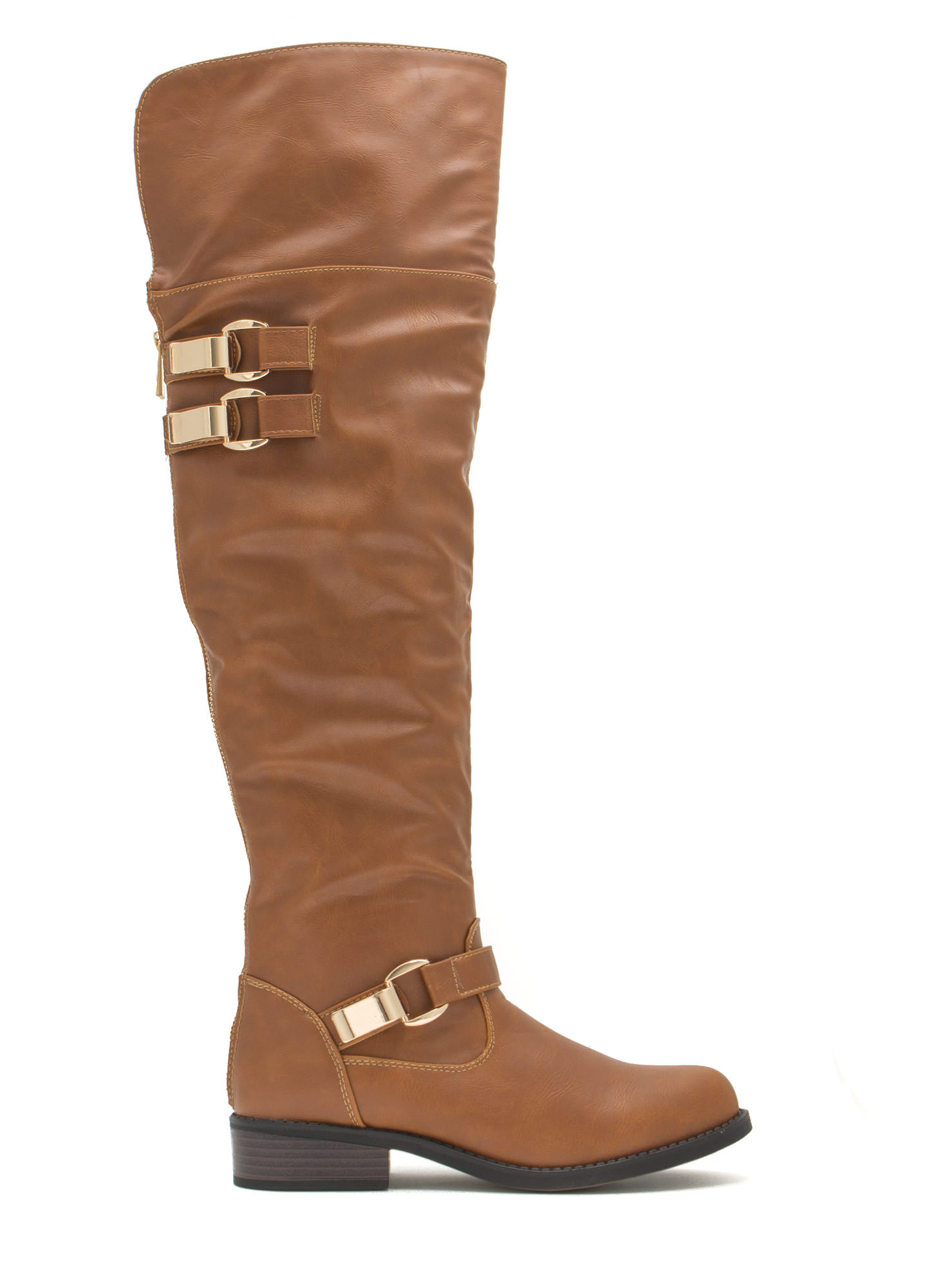 Moto Ride Tall Boots CHESTNUT