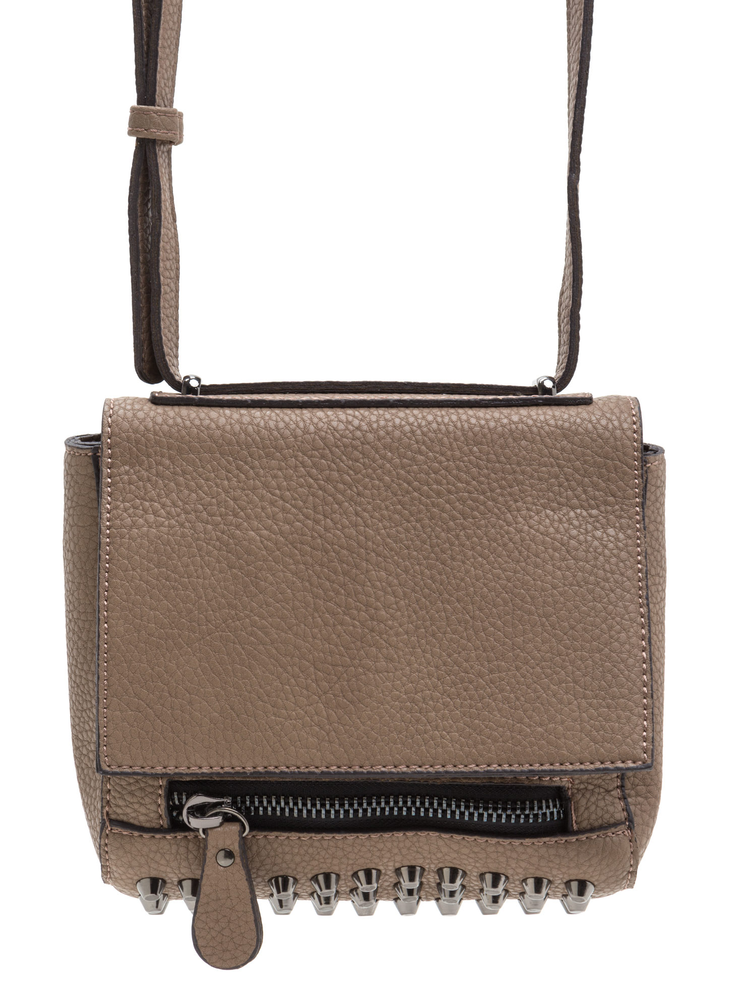 Rocker Studded Cross-Body Bag MOCHA