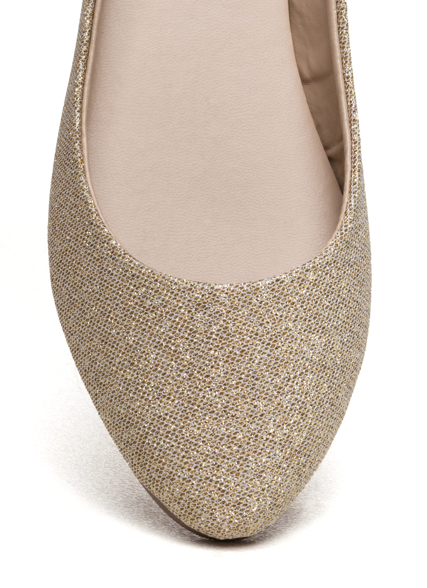 Flawless Round Toe Ballet Flats GOLD