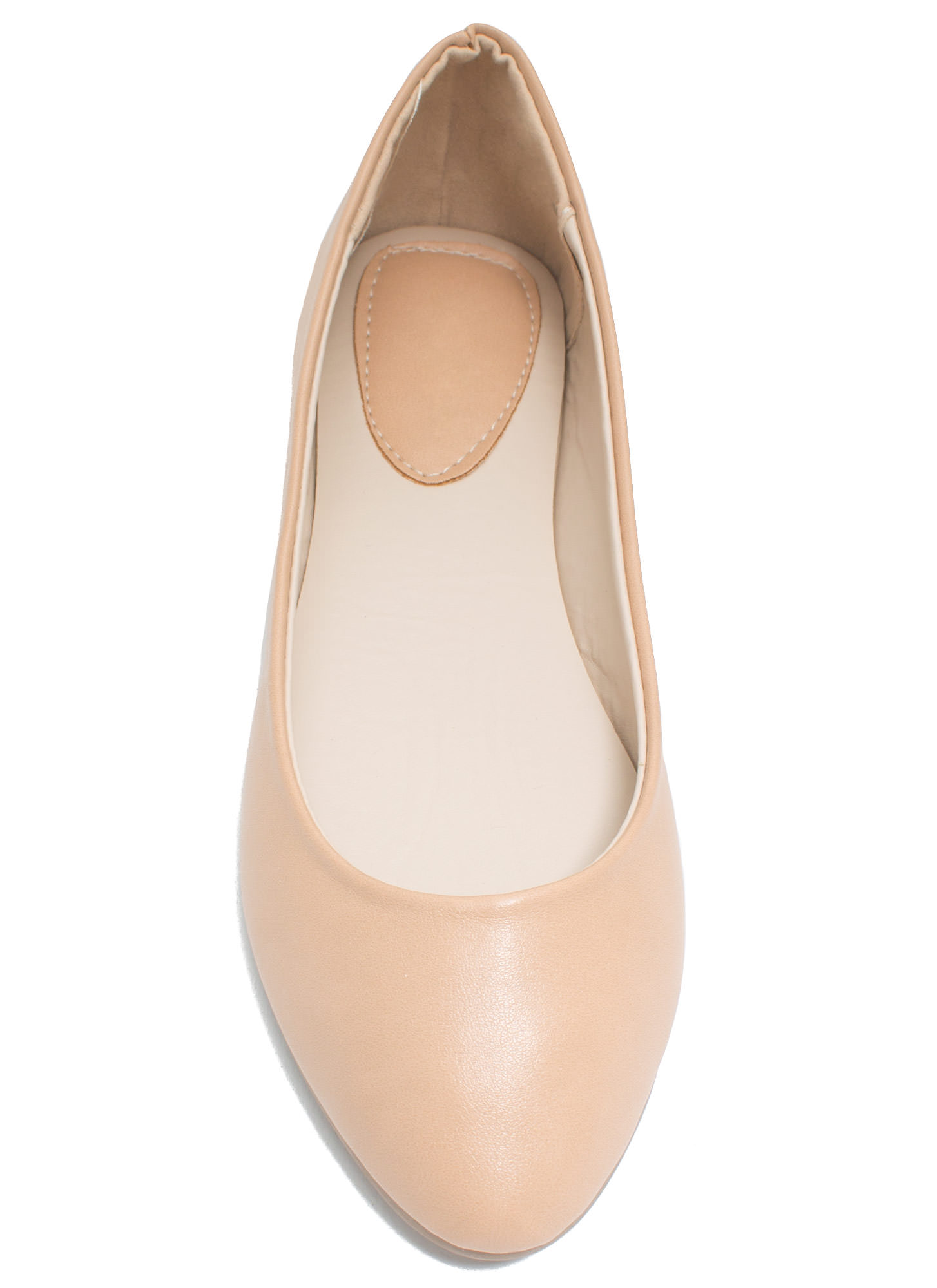 Flawless Round Toe Ballet Flats NUDE