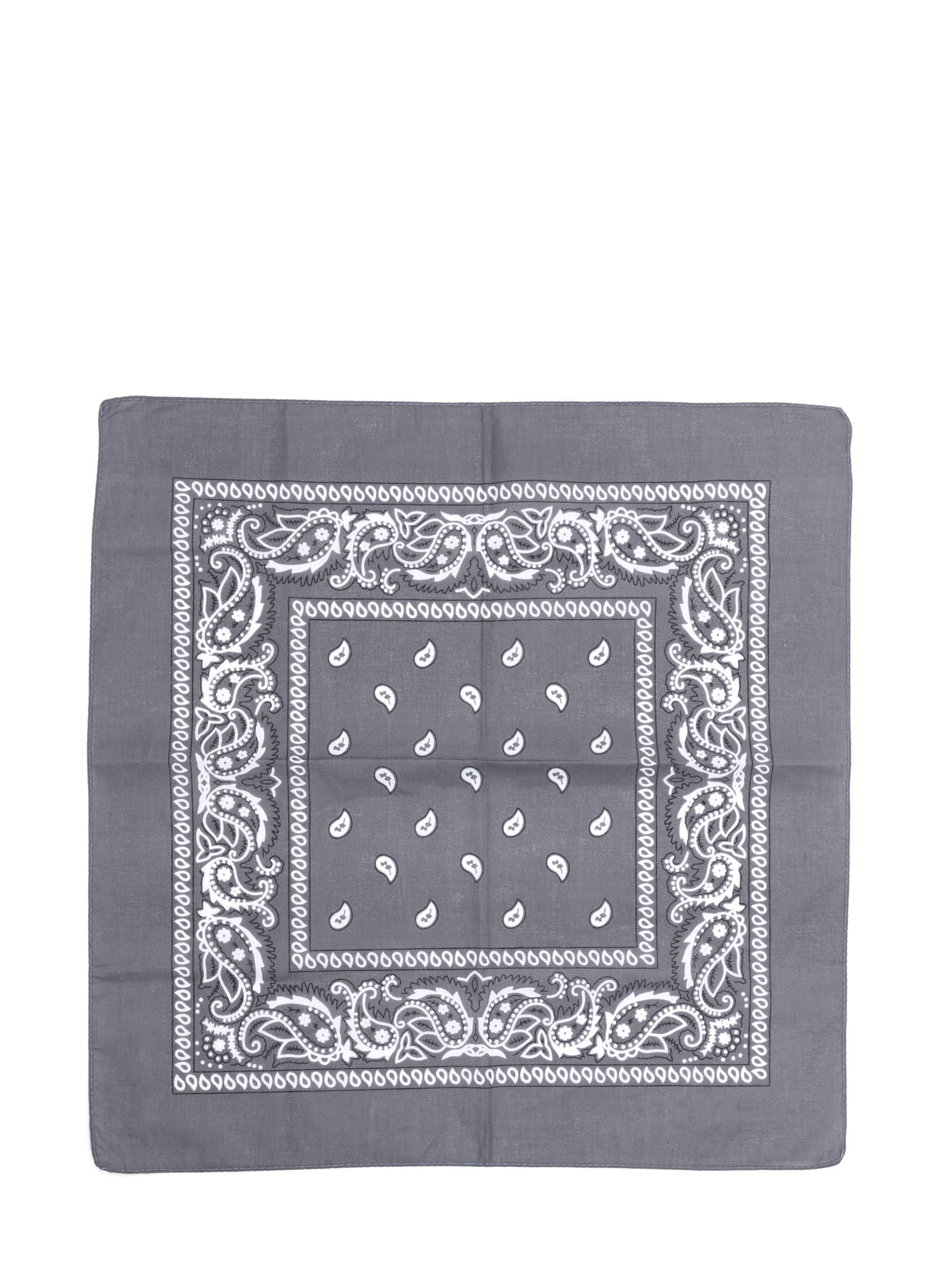With The Band Paisley Bandana  DKGREY