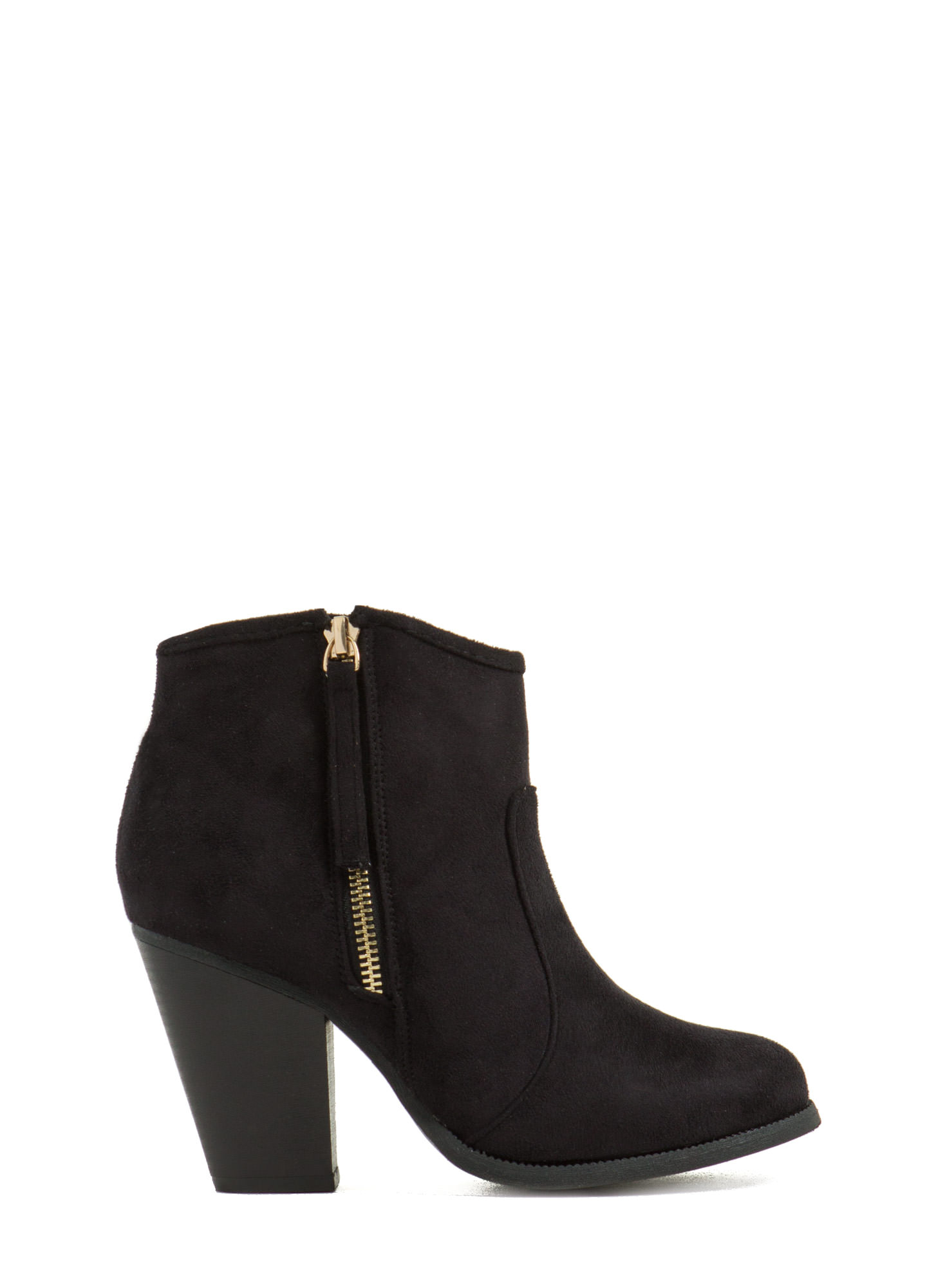 Zipped To The Top Chunky Booties BLACK