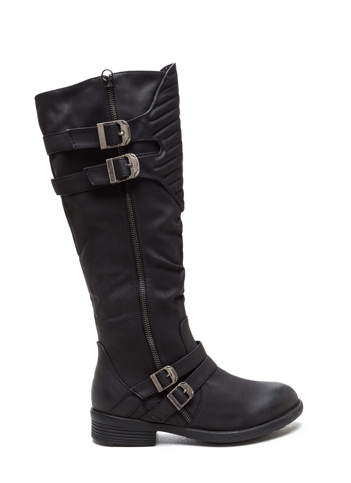 Gimme A Moment Faux Nubuck Boots BLACK (Final Sale)
