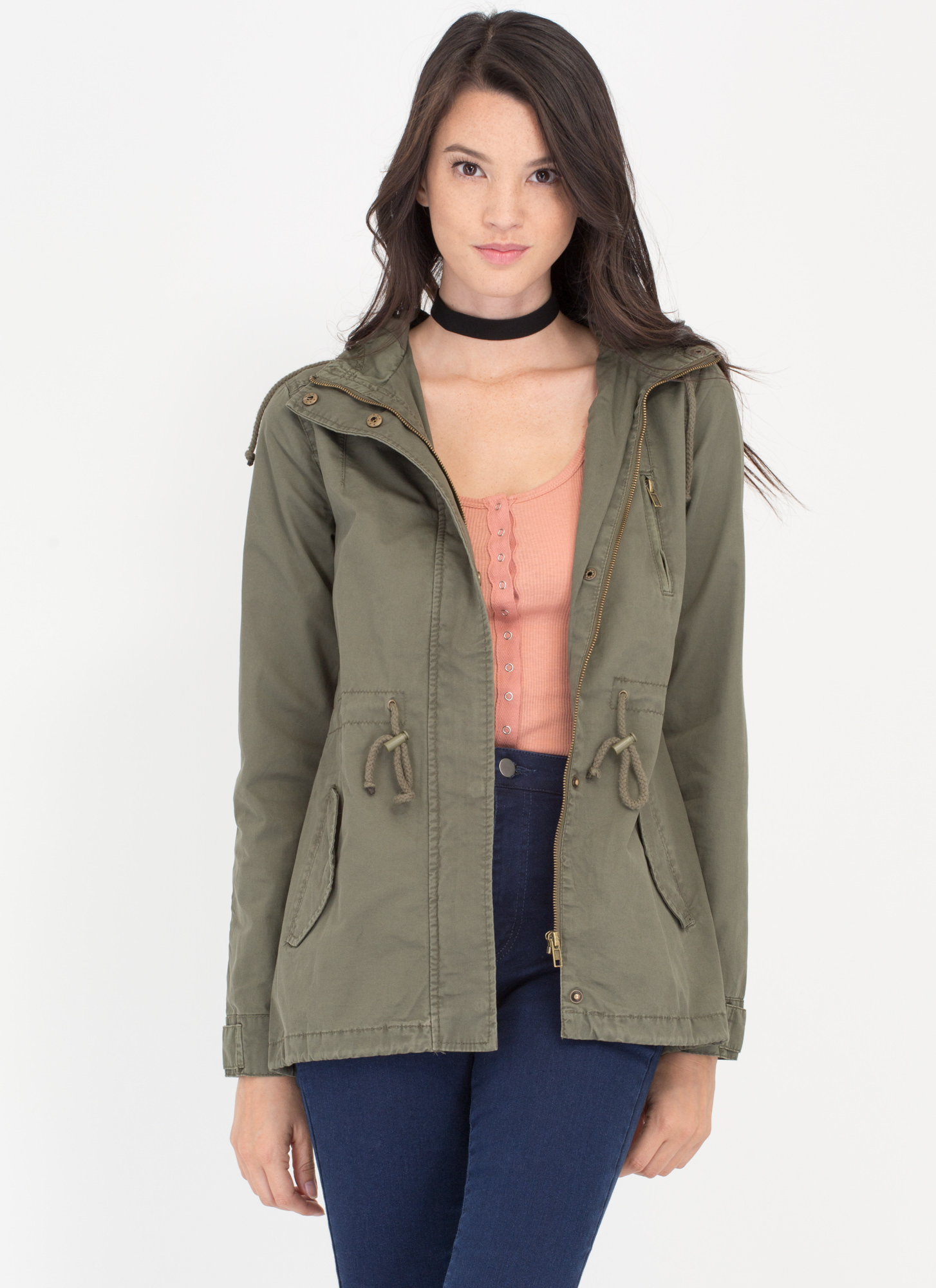 Play The Field Jacket OLIVE