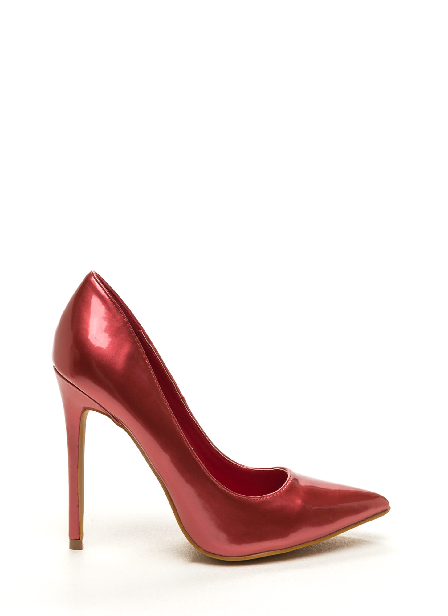 Point Of Contact Faux Patent Heels BRICK