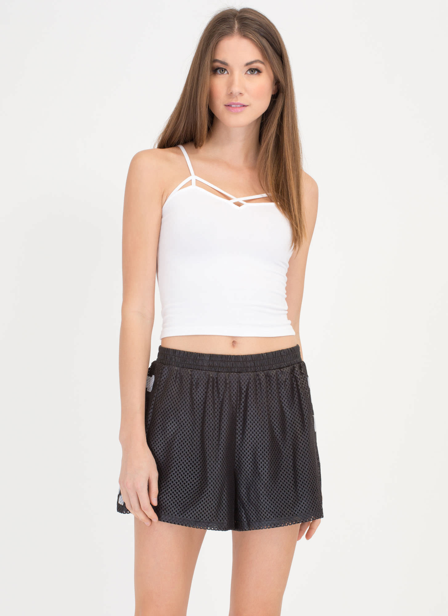 Love Life Netted Sports Mesh Shorts BLACK (Final Sale)