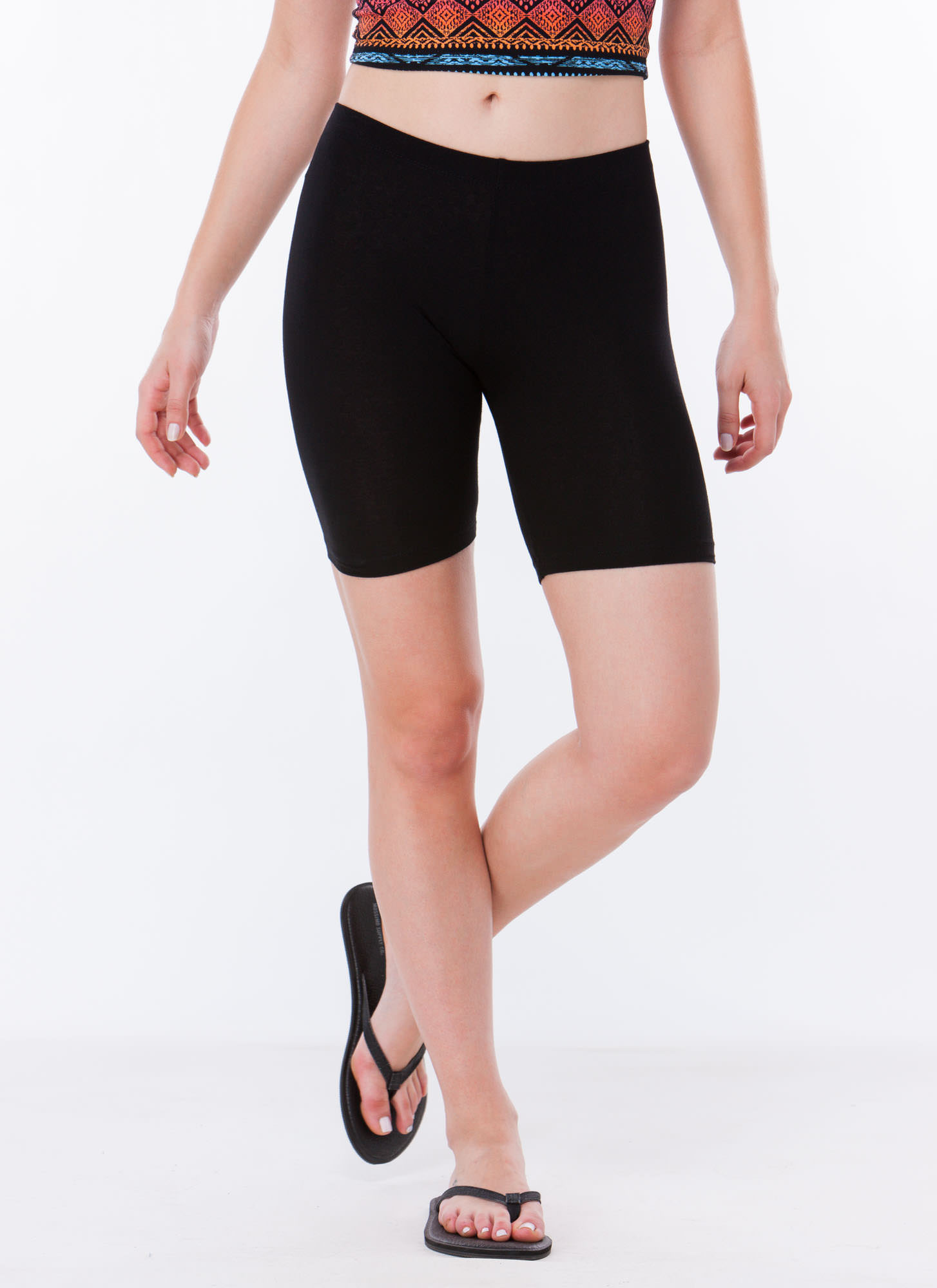 Do Me A Solid Stretchy Biker Shorts