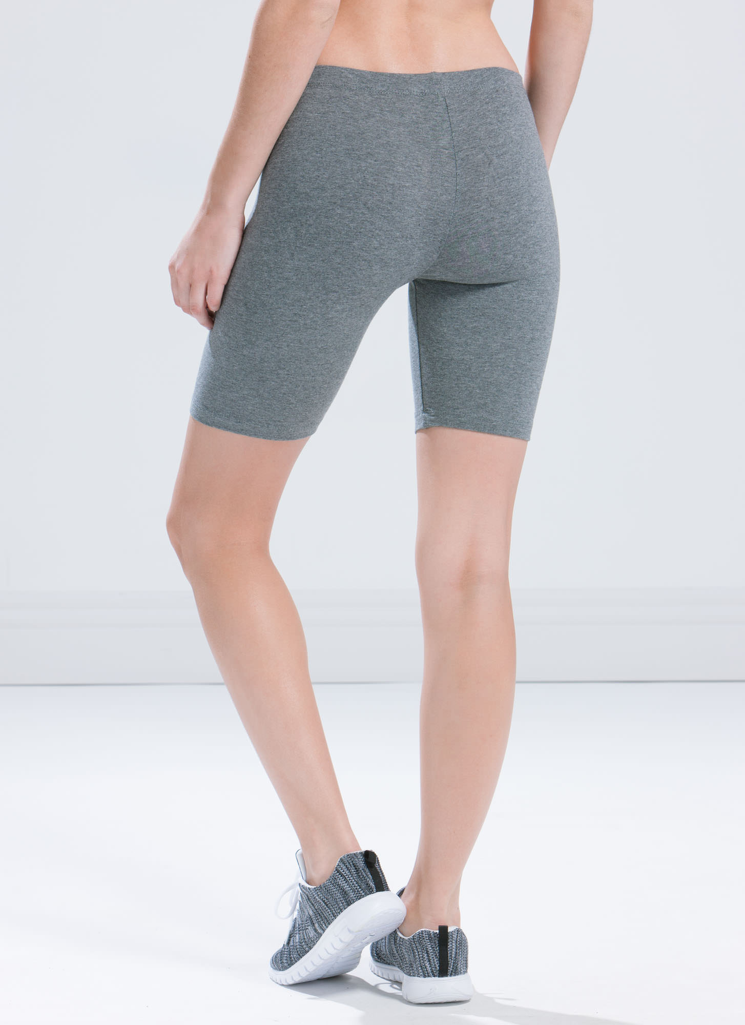 Do Me A Solid Stretchy Biker Shorts GREY