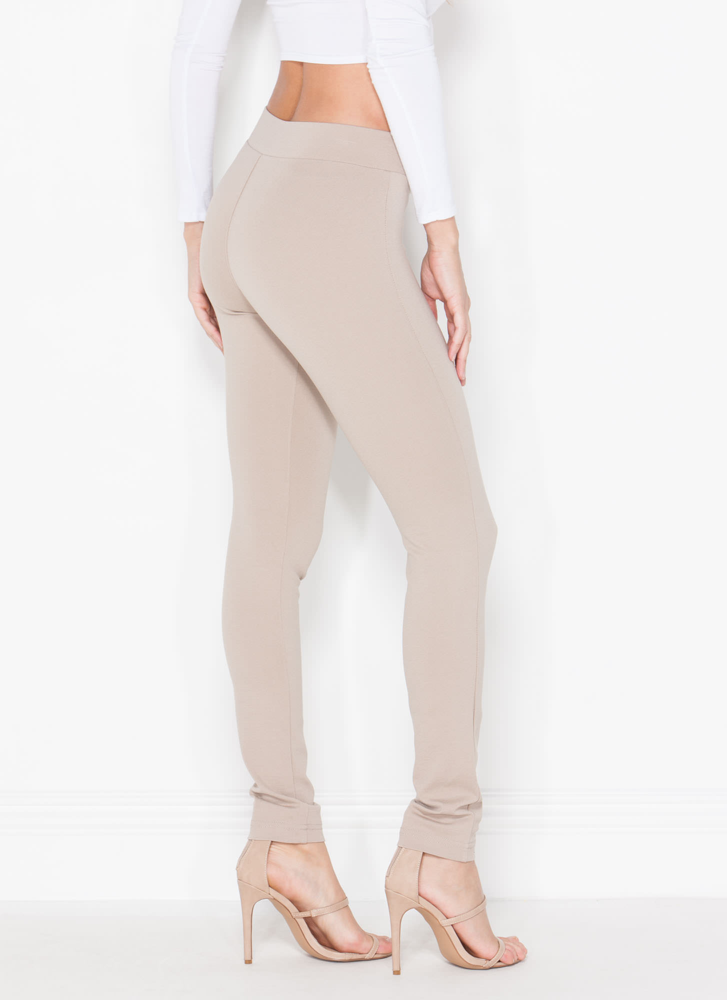 Waist Not Want Not Skinny Pants KHAKI