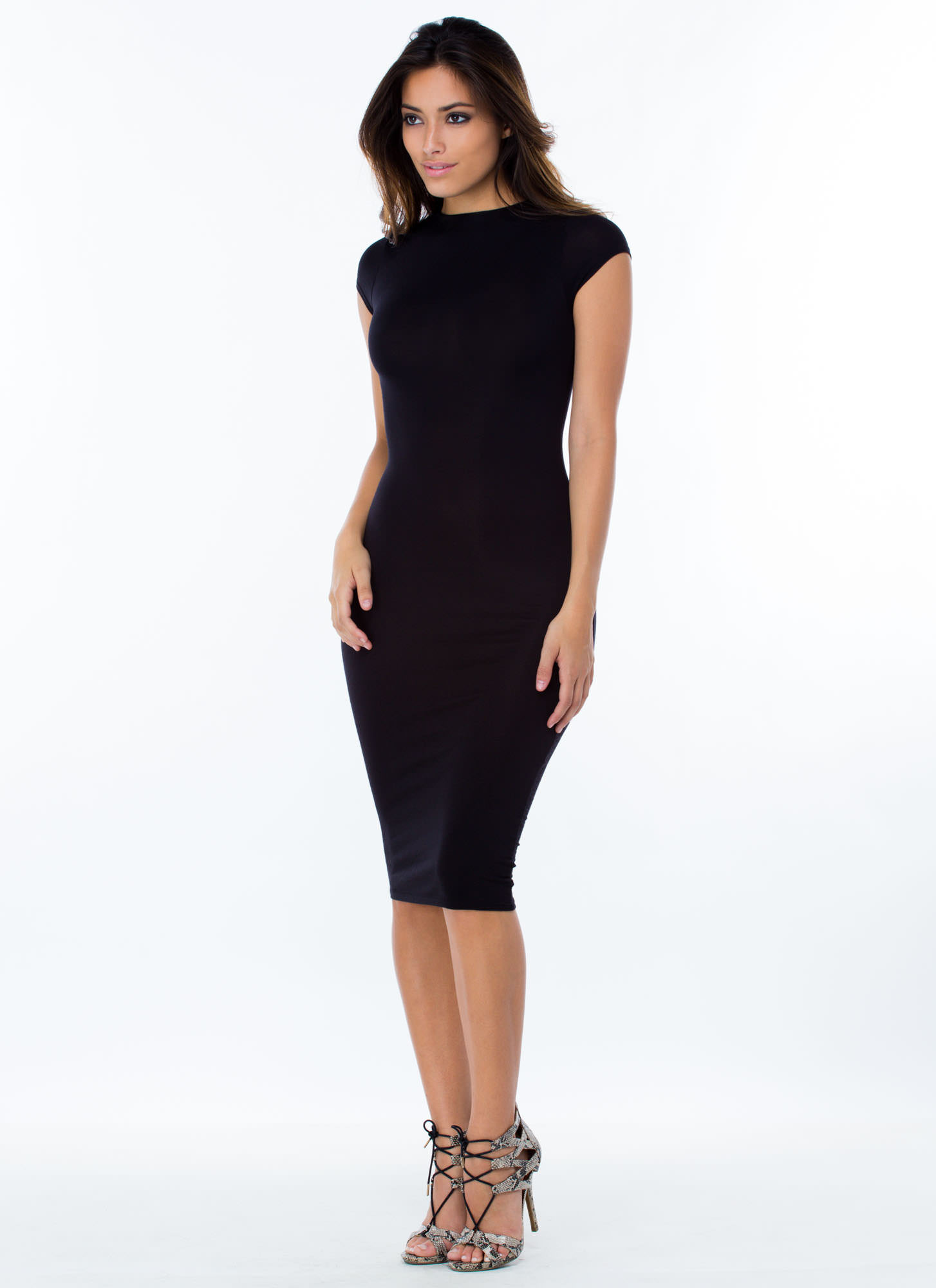 Heartbreaker Babe Bodycon Dress BLACK
