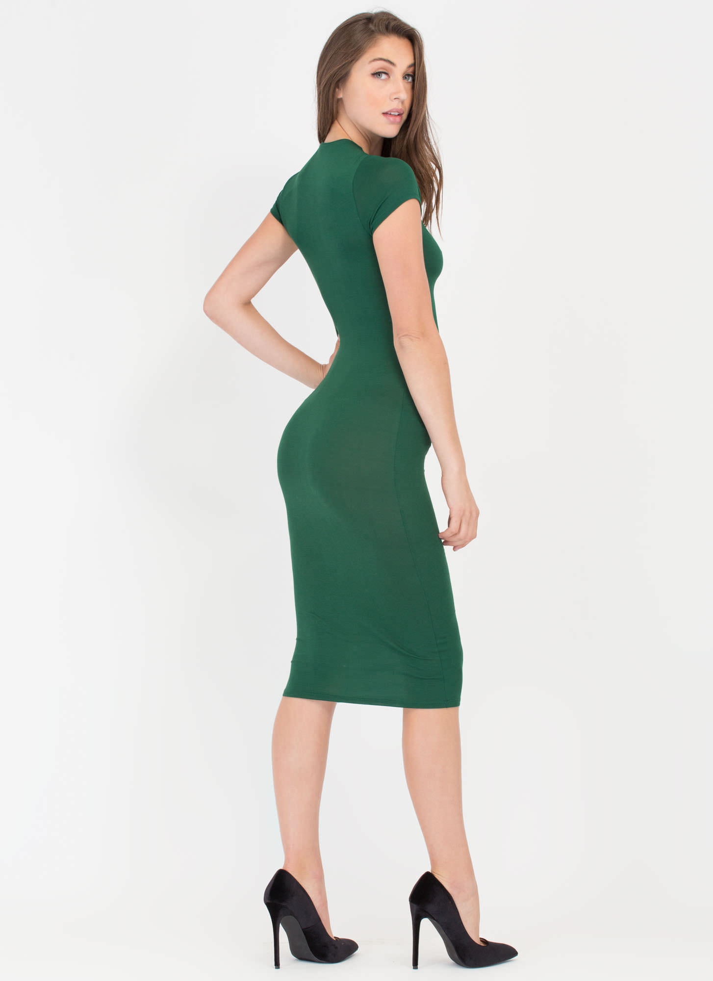Heartbreaker Babe Bodycon Dress HUNTERGREEN