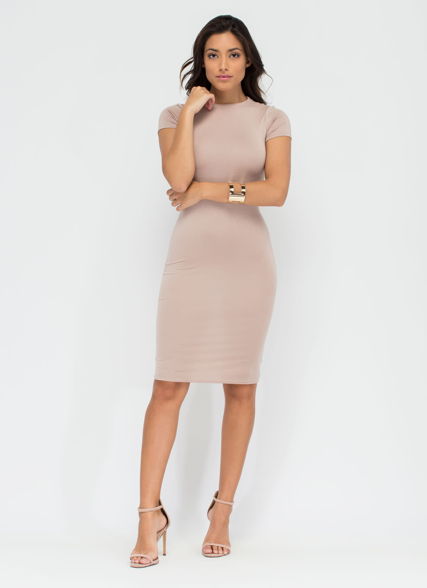 Heartbreaker Babe Bodycon Dress MOCHA