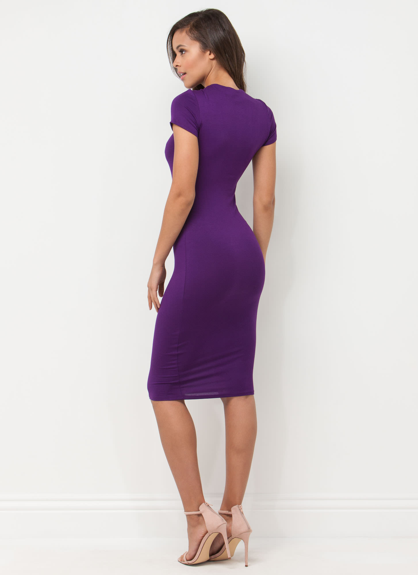 Heartbreaker Babe Bodycon Dress PURPLE