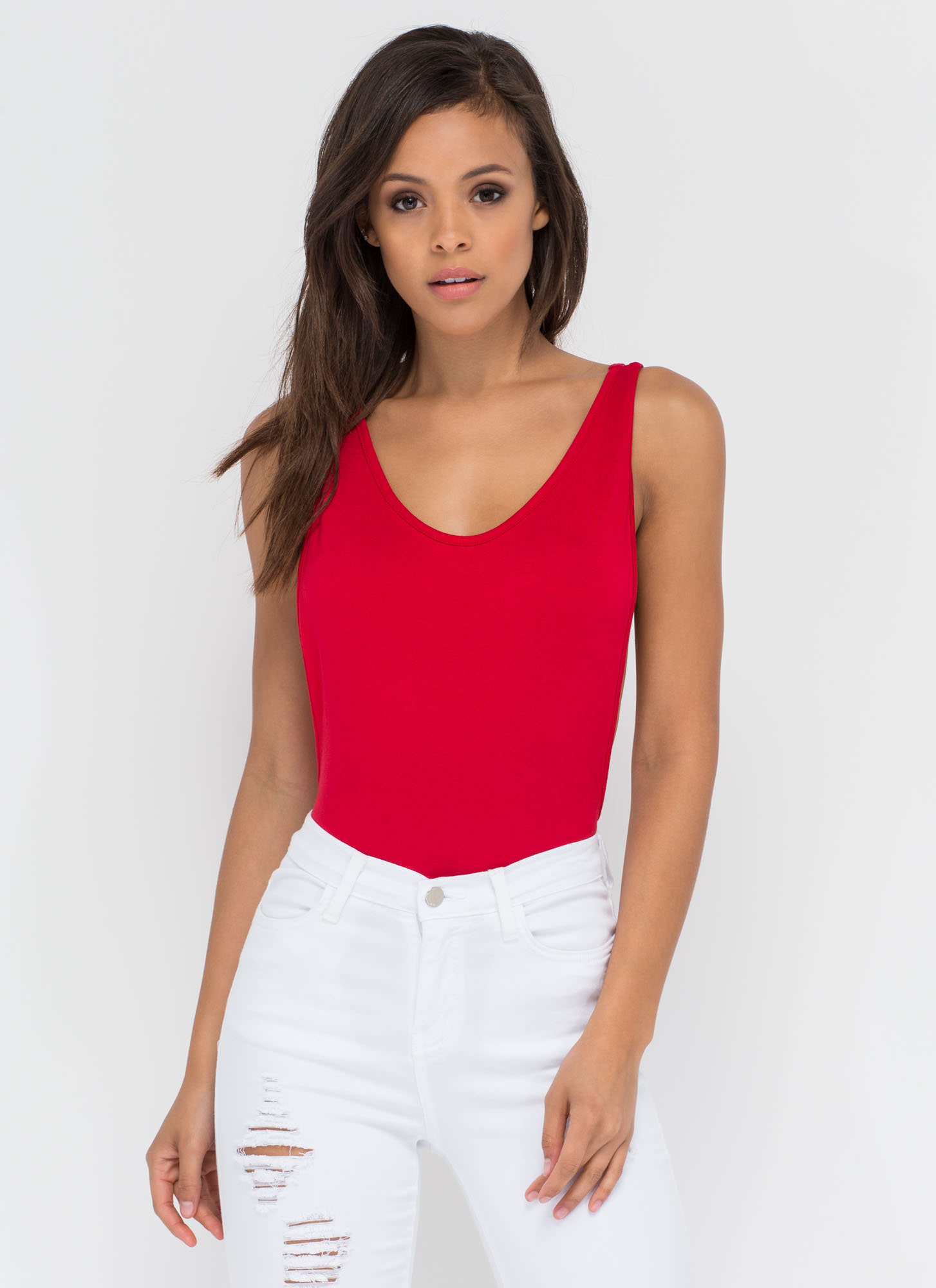 Wanted Muscle Bodysuit RED
