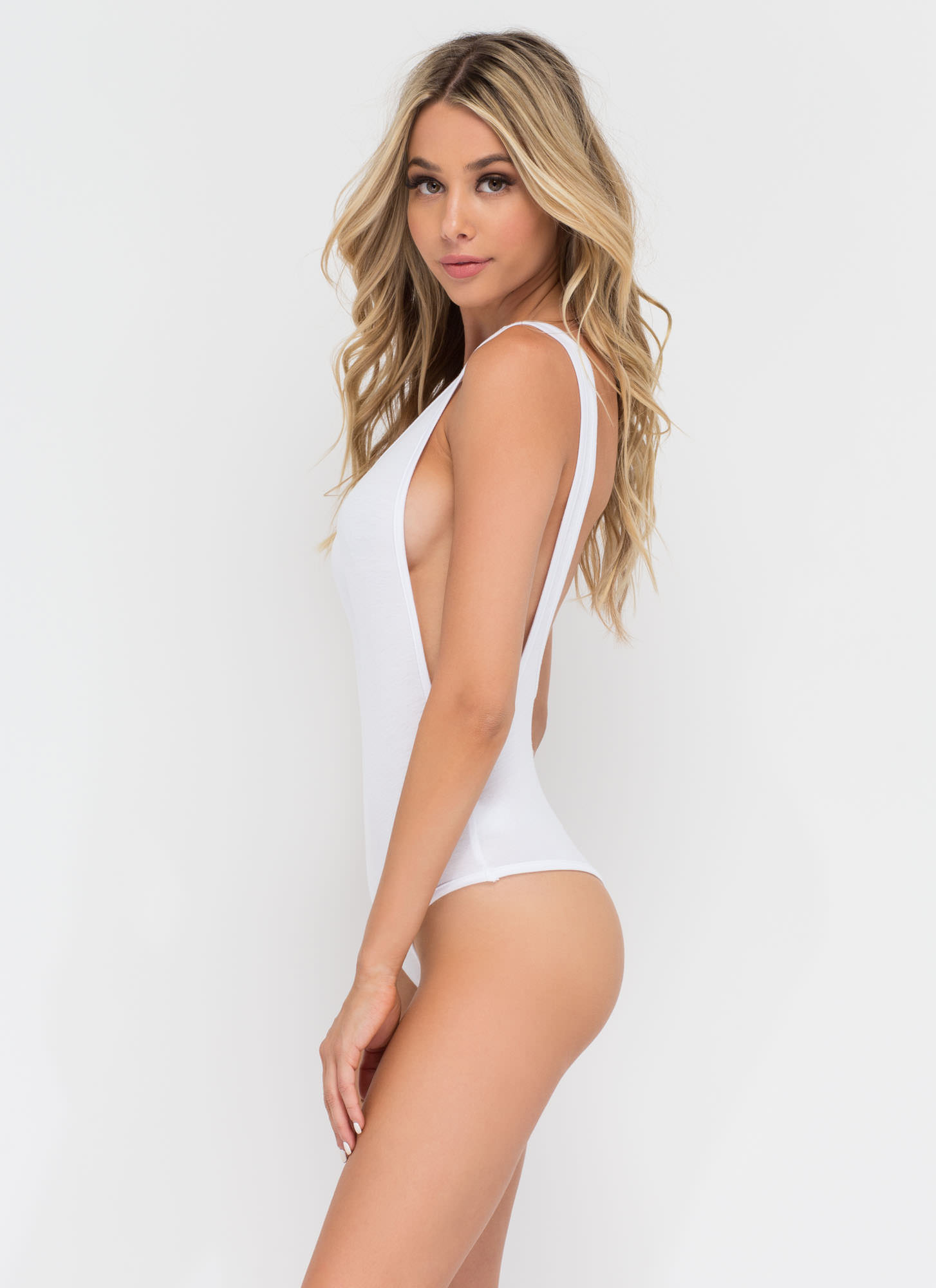 Wanted Muscle Bodysuit WHITE