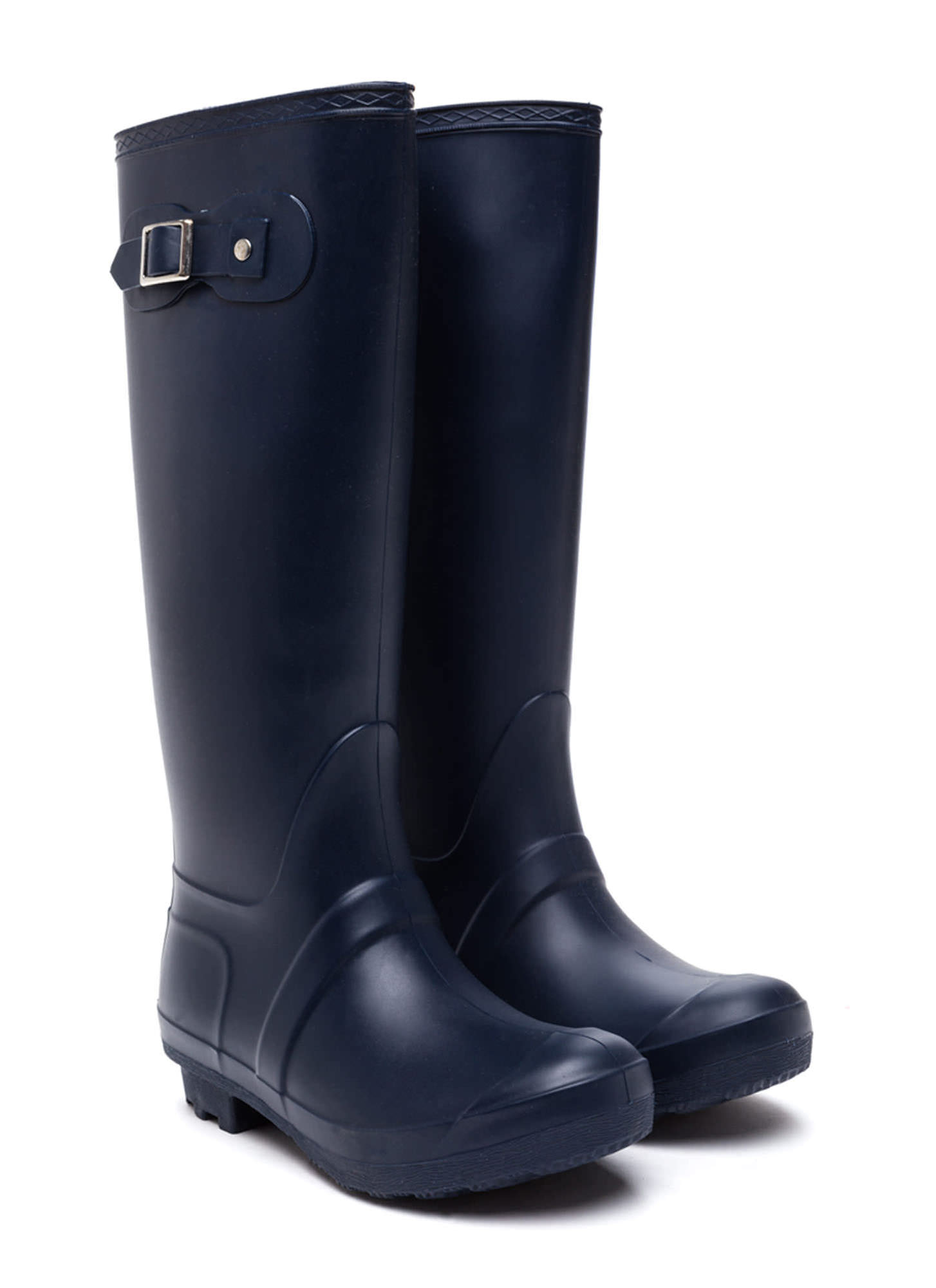 Navy Blue Rain Boots - Cr Boot