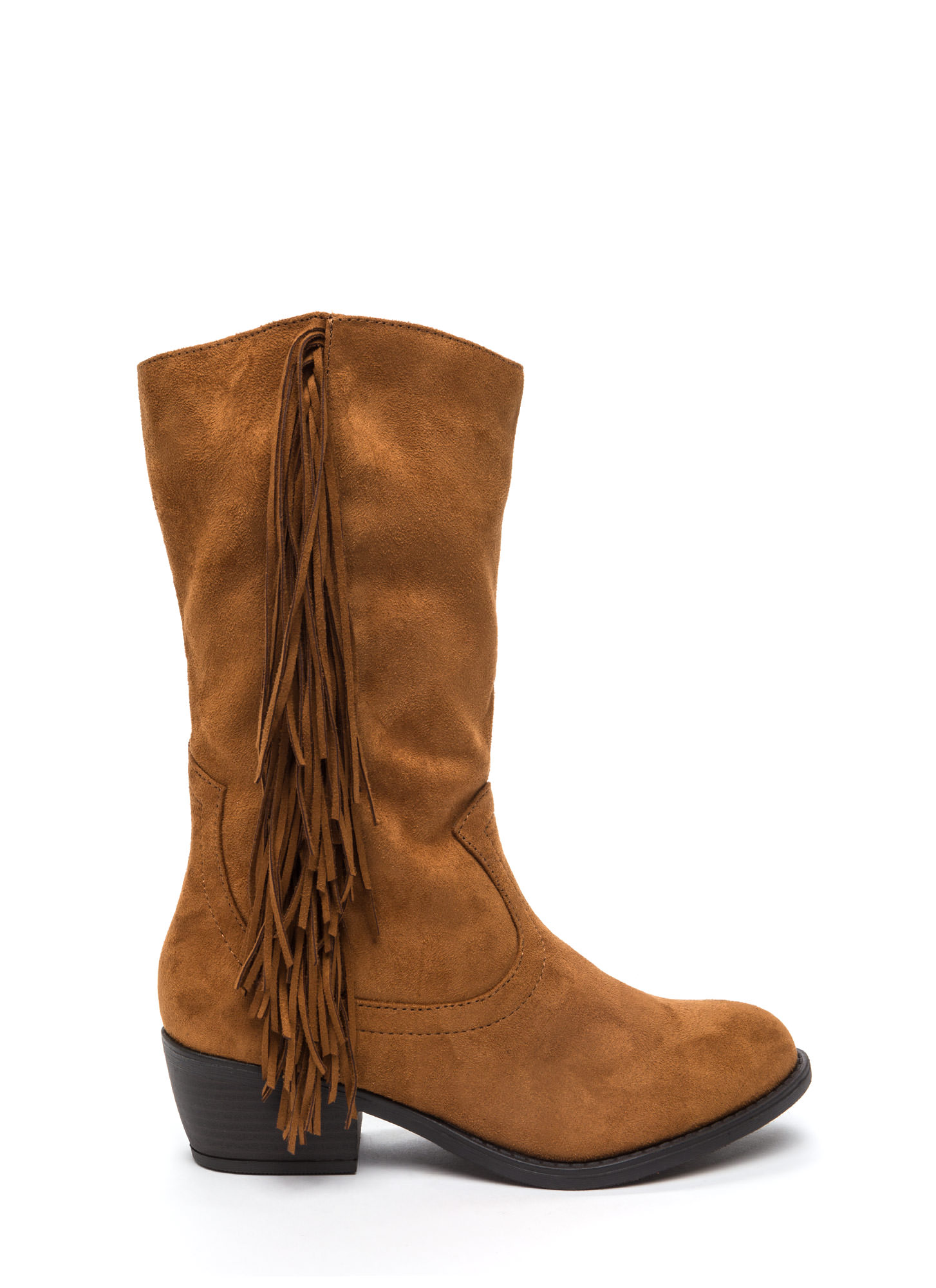 Fringe Off Faux Suede Boots