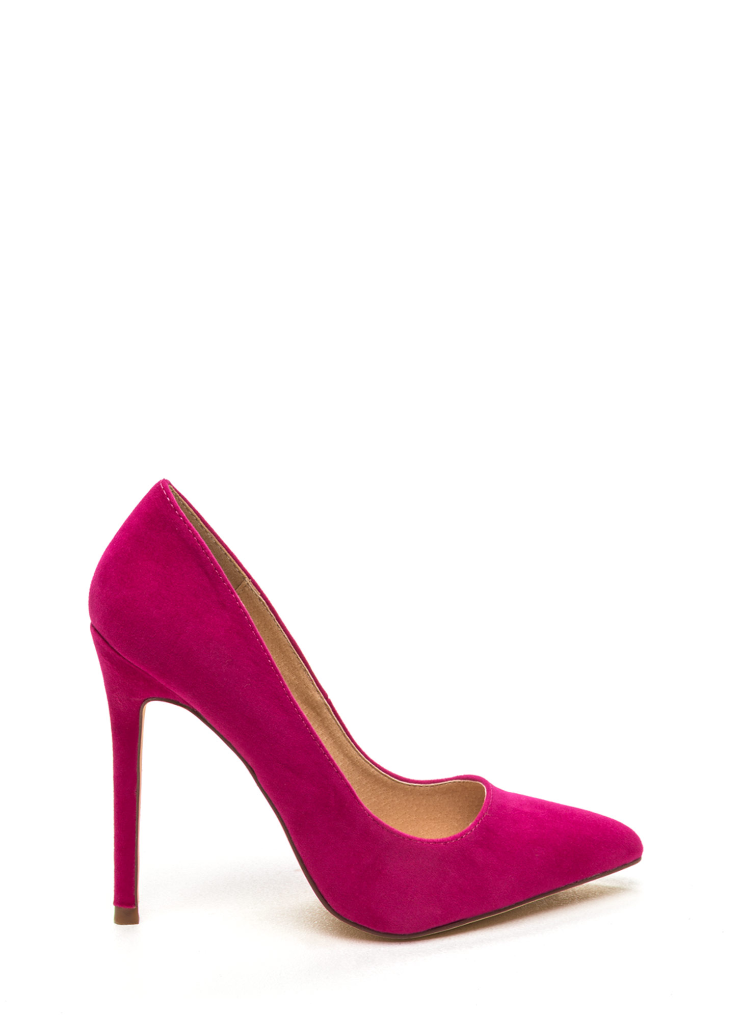 Point It Out Velvet Pumps