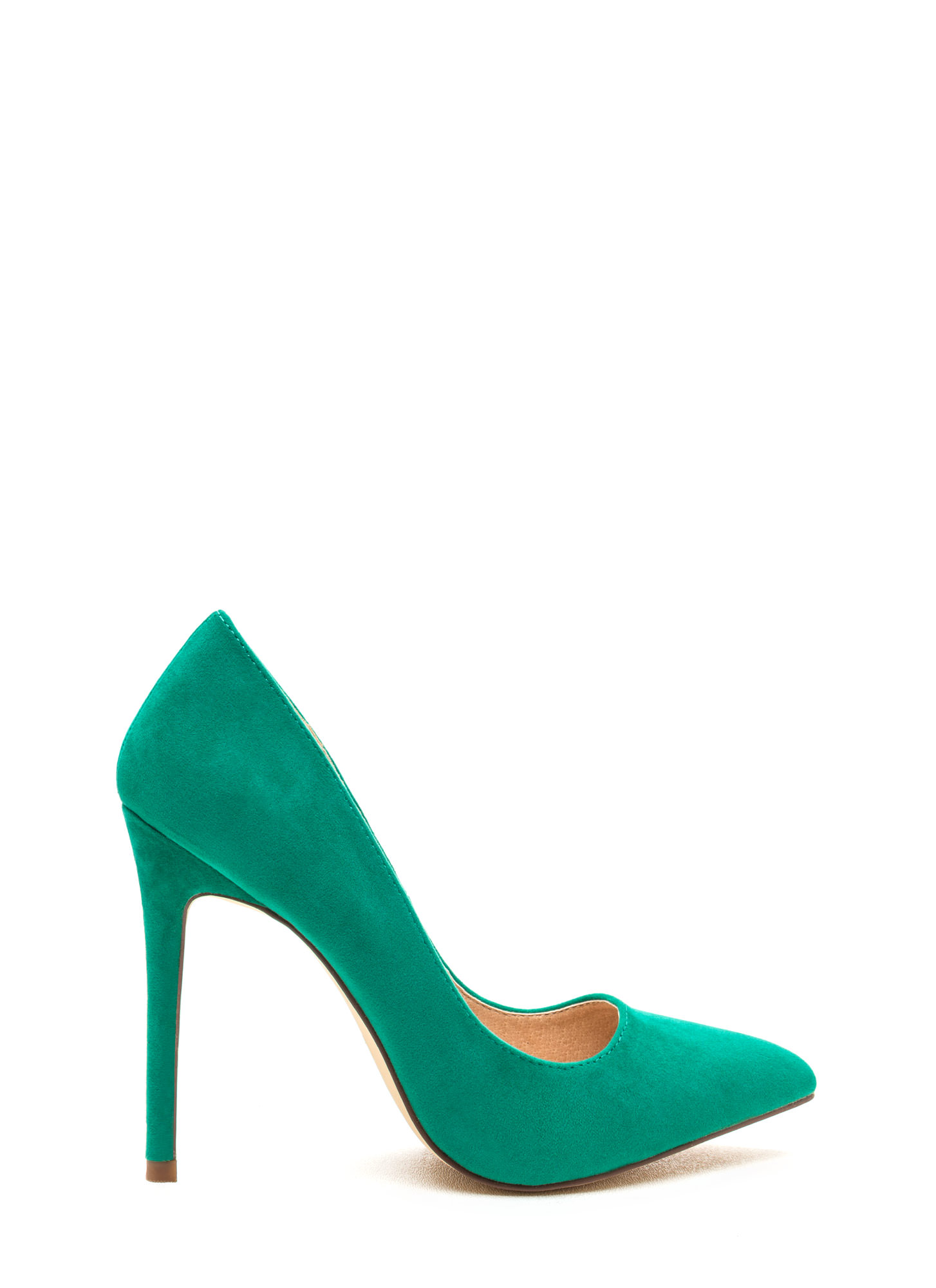 Point It Out Velvet Pumps SEAGREEN