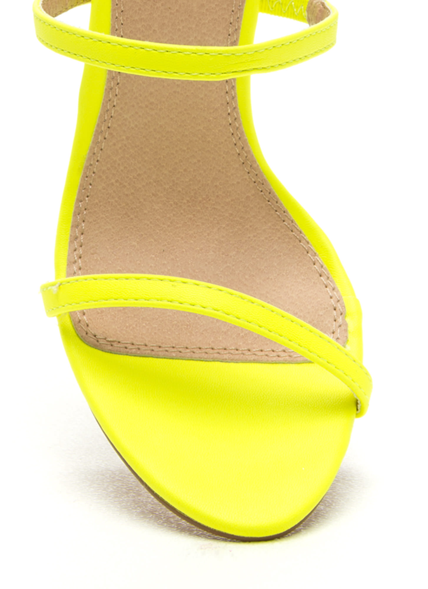 Strappy Life Single-Sole Heels NEONYELLOW