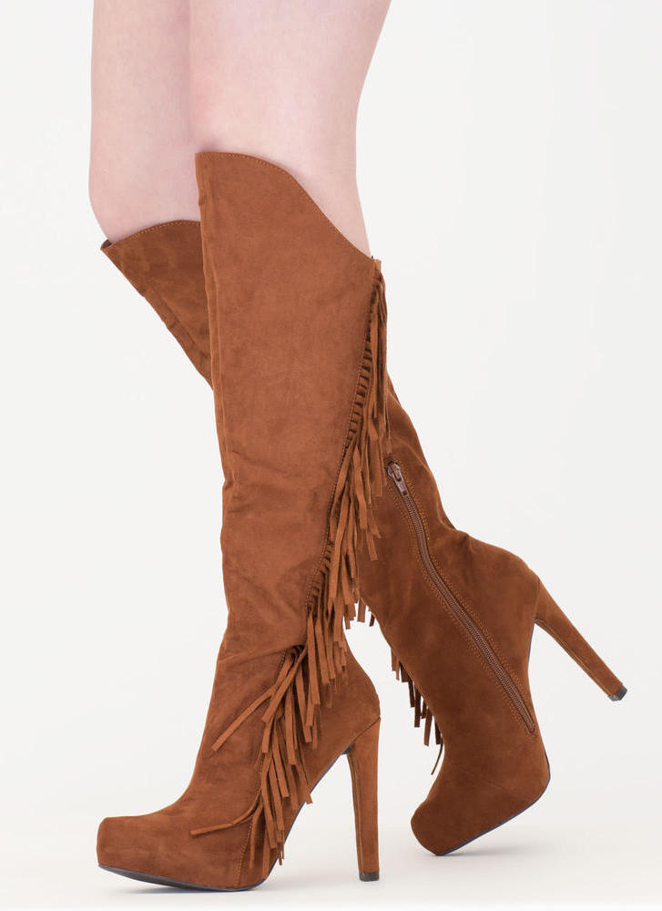 Long Live Fringe Over-The-Knee Boots