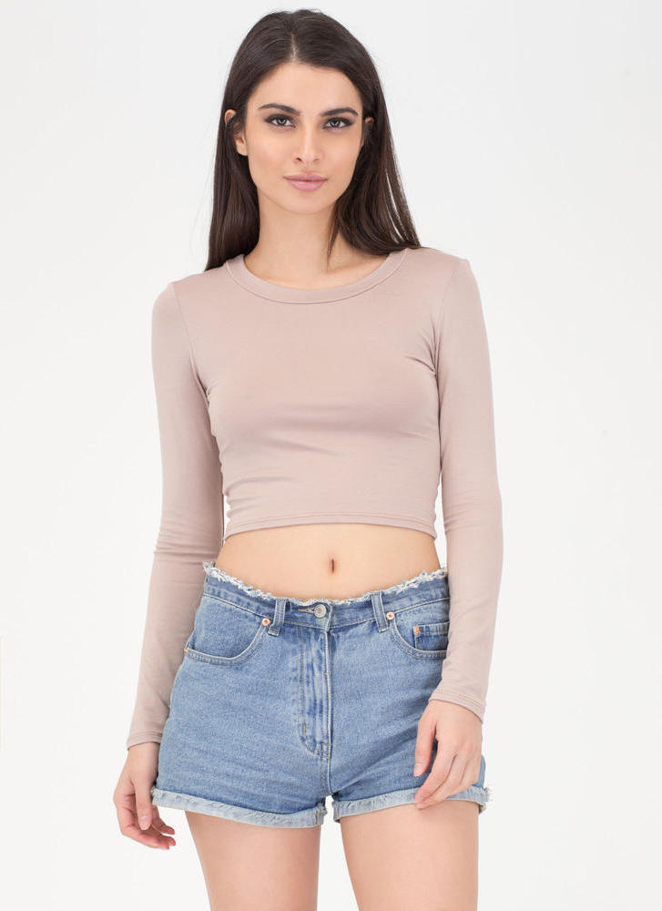 Not-So-Basic Long Sleeve Crop Top