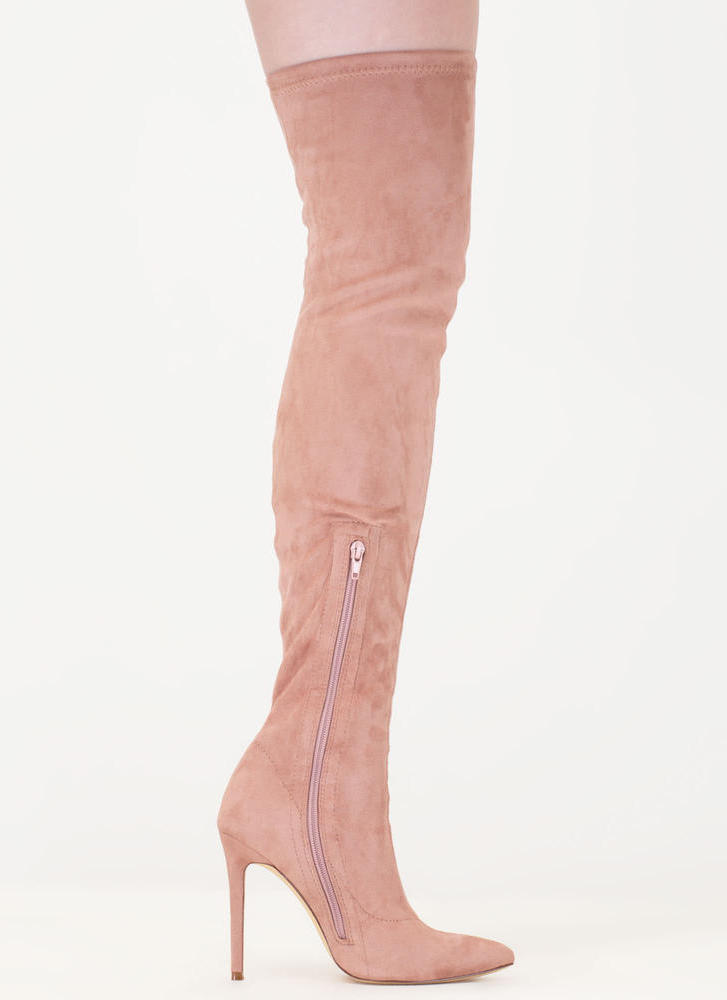Long Story Chic Thigh-High Boots MAUVE