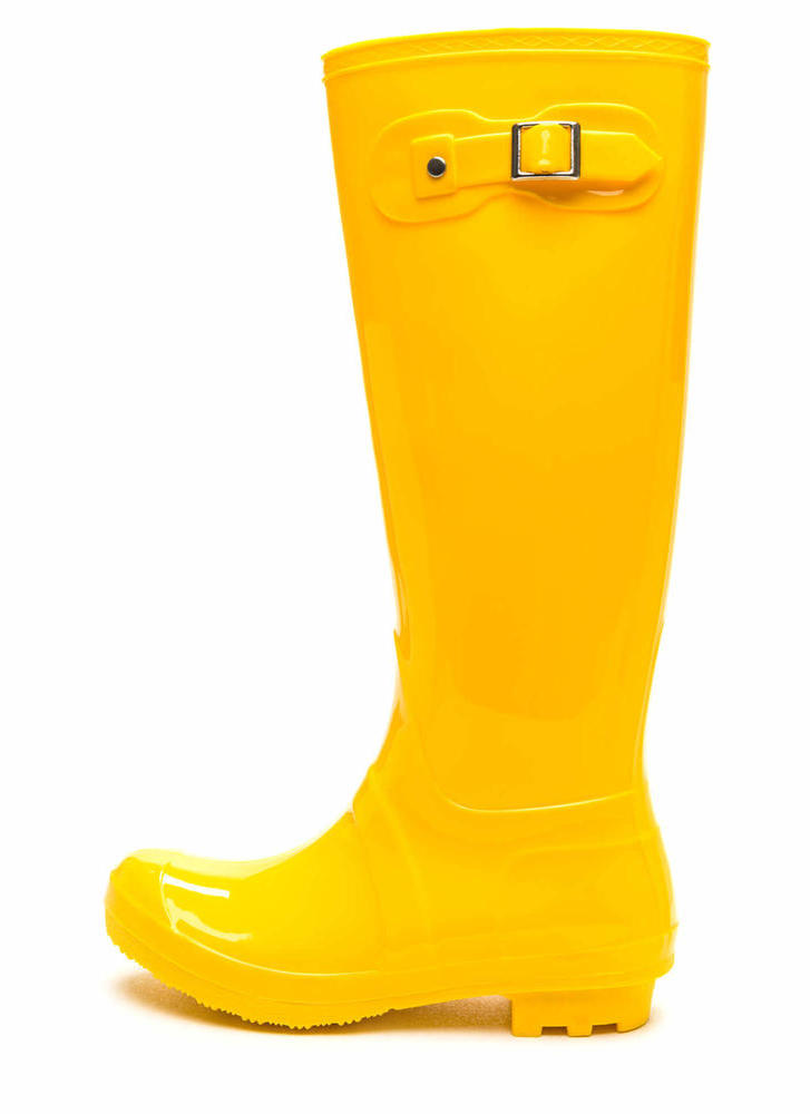 Dry Land PVC Rain Boots YELLOW