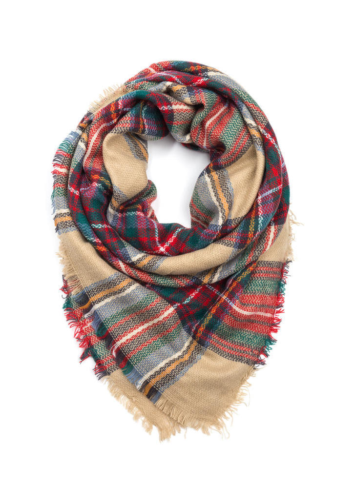 Plaid In Love Square Scarf