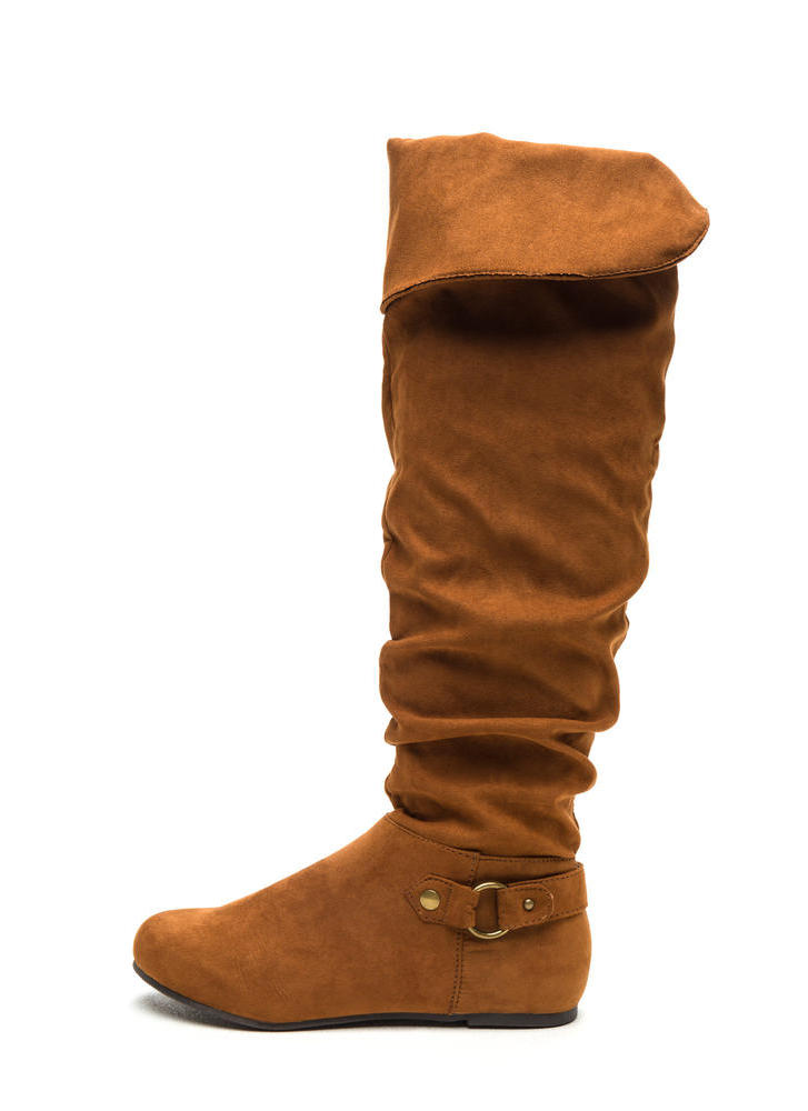 Cuff Love Slouchy Faux Suede Boots