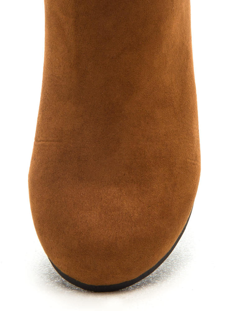 Cuff Love Slouchy Faux Suede Boots CHESTNUT