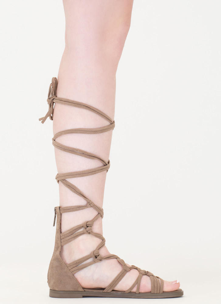 Knotty By Nature Gladiator Sandals BEIGE