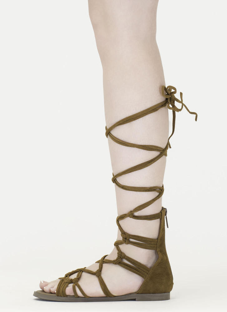 Knotty By Nature Gladiator Sandals TAN