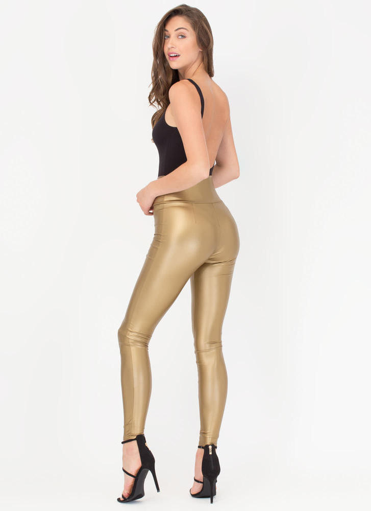 Zip Zip Hooray High-Waisted Leggings COPPER