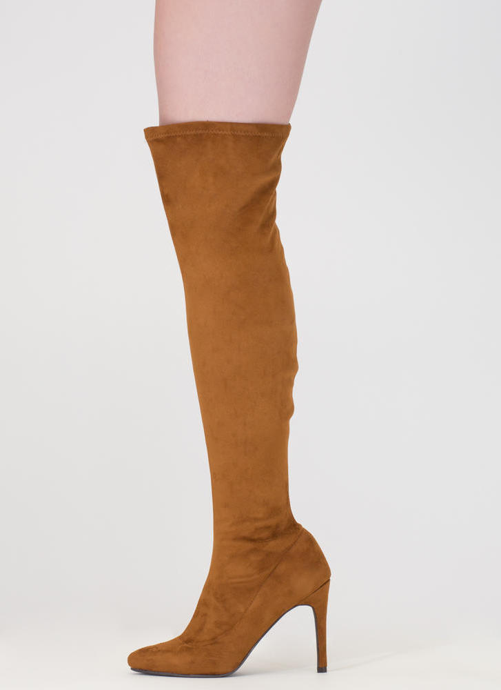 Smooth Trip Over-The-Knee Boots TAUPE BLACK TAN - GoJane.com