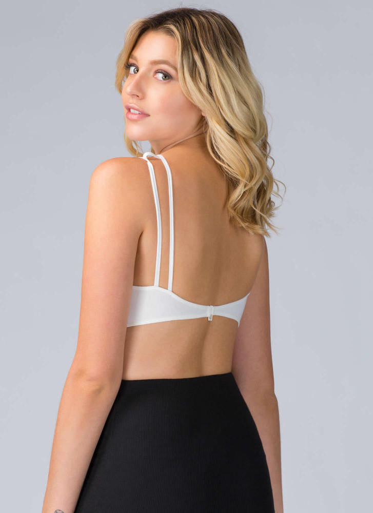 In The Cage Strappy Bralette WHITE (Final Sale)