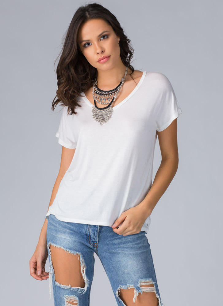 Rest And Relaxation Basic V-Neck Top