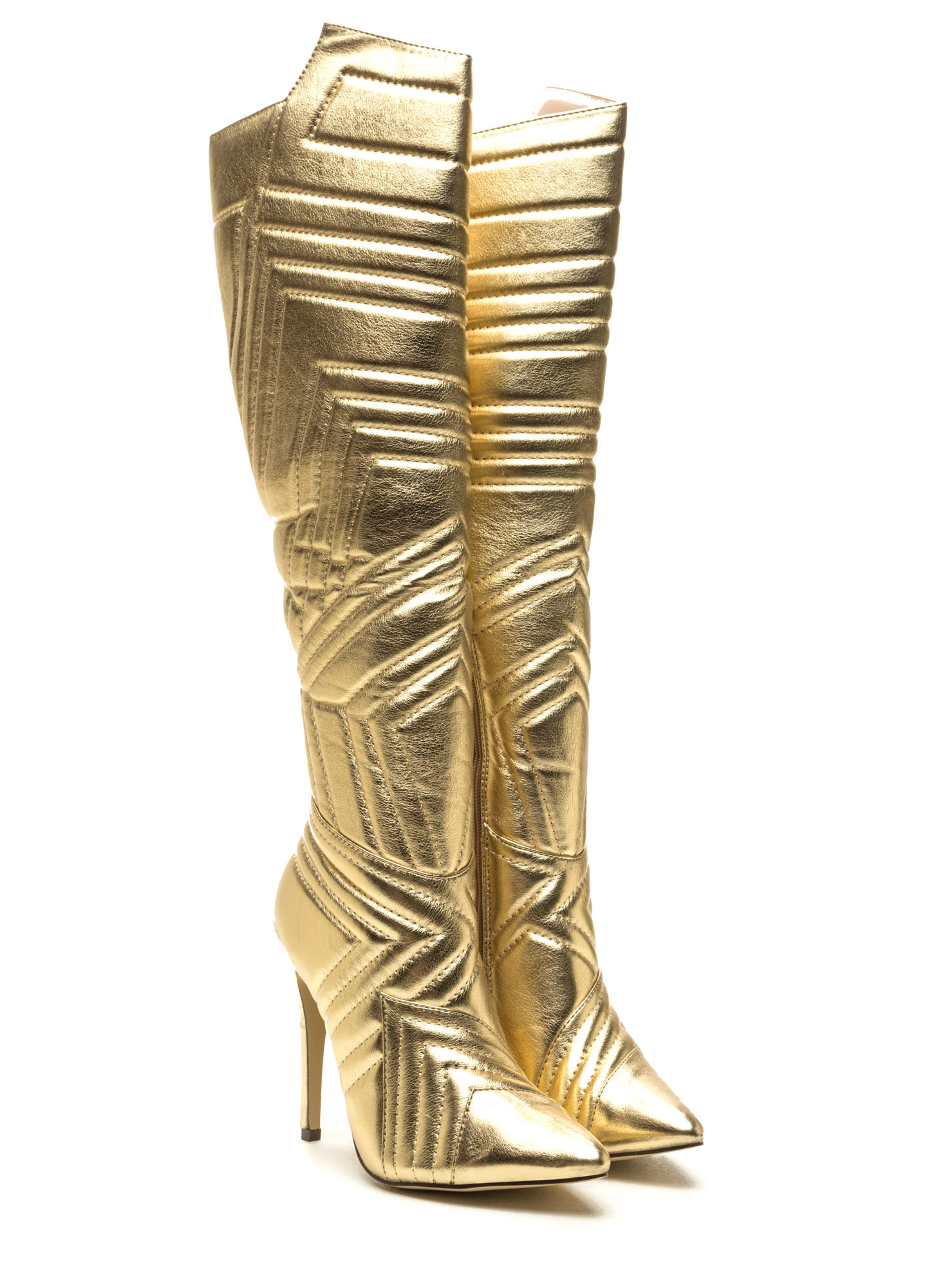 Quilted Wonder Metallic Boots GOLD (Final Sale)