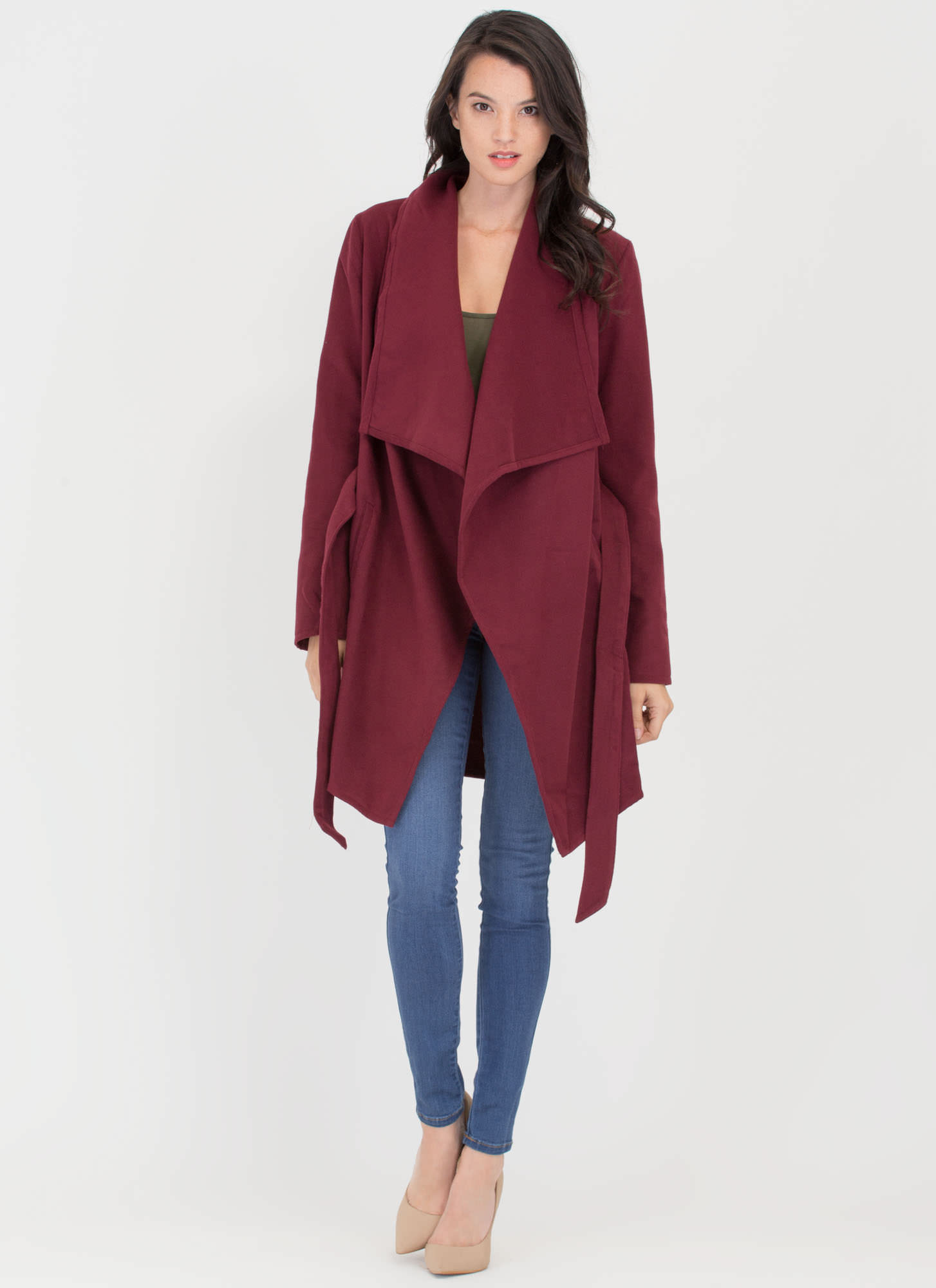 Flasher Forward Trench Coat BURGUNDY