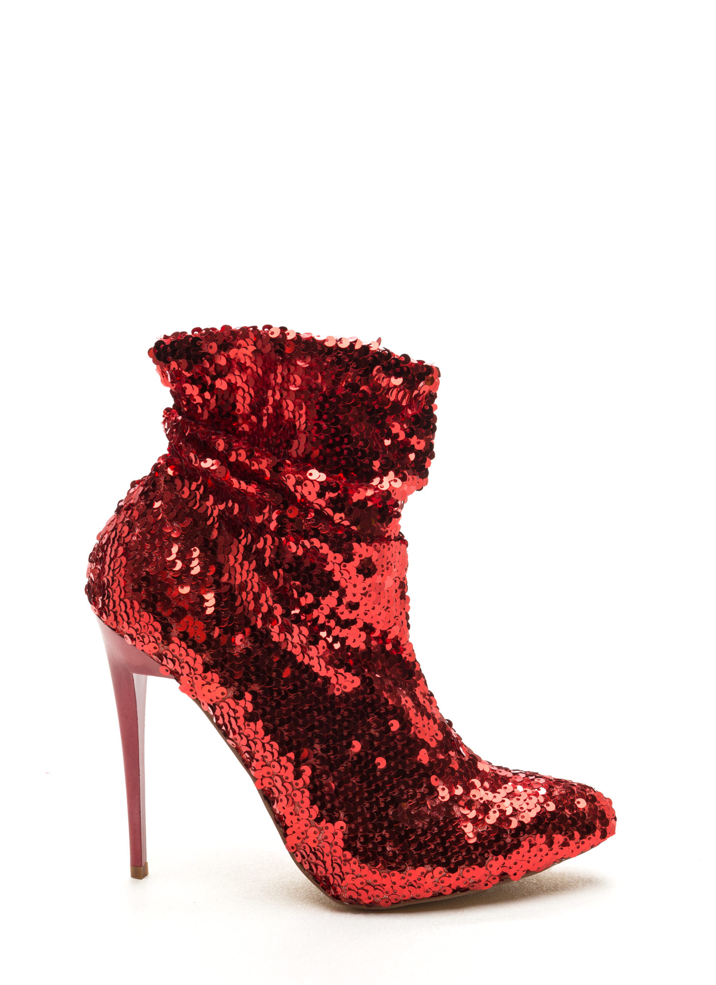 Sequin Chic Pointy Booties