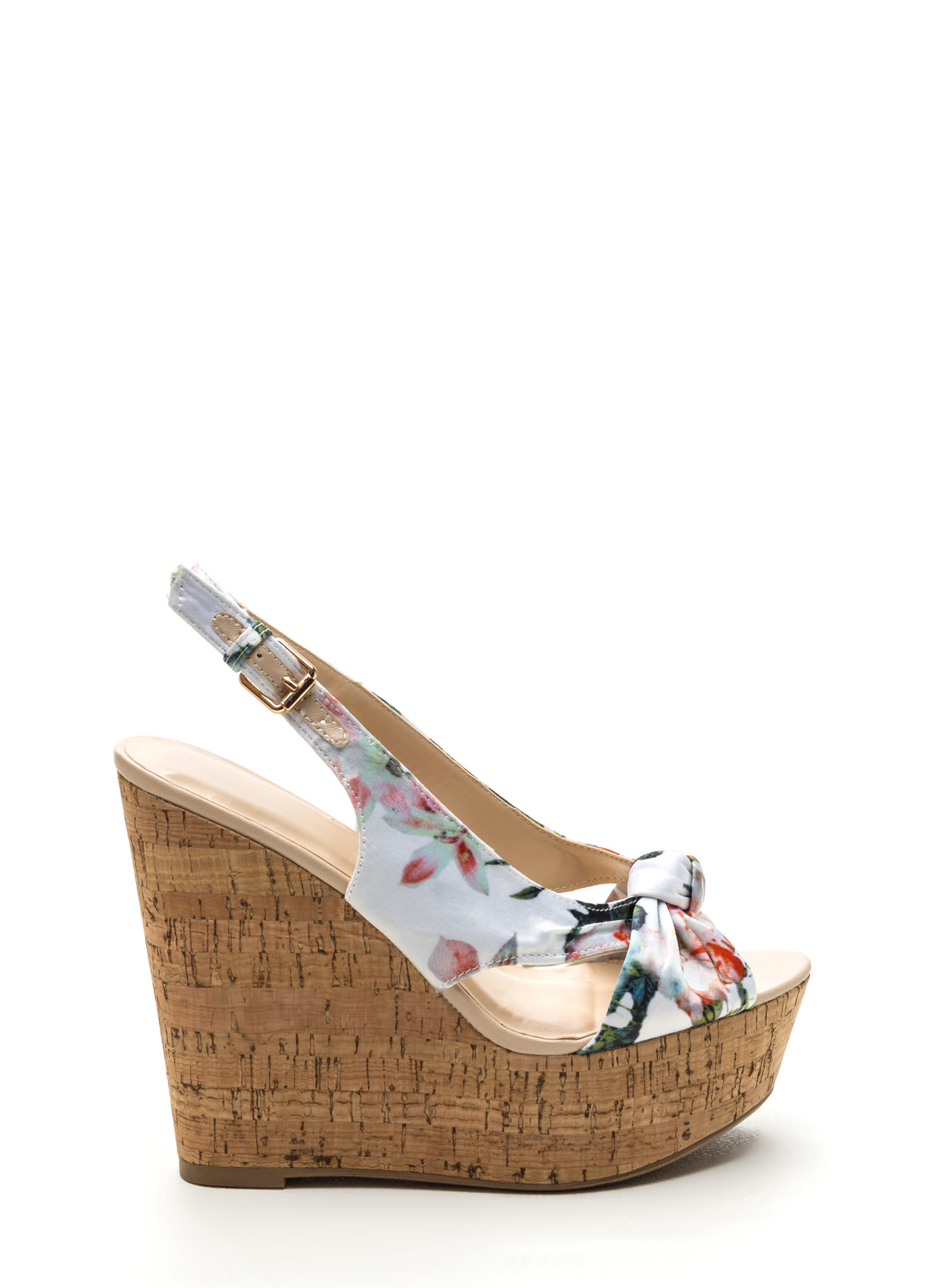Coming Up Florals Slingback Wedges