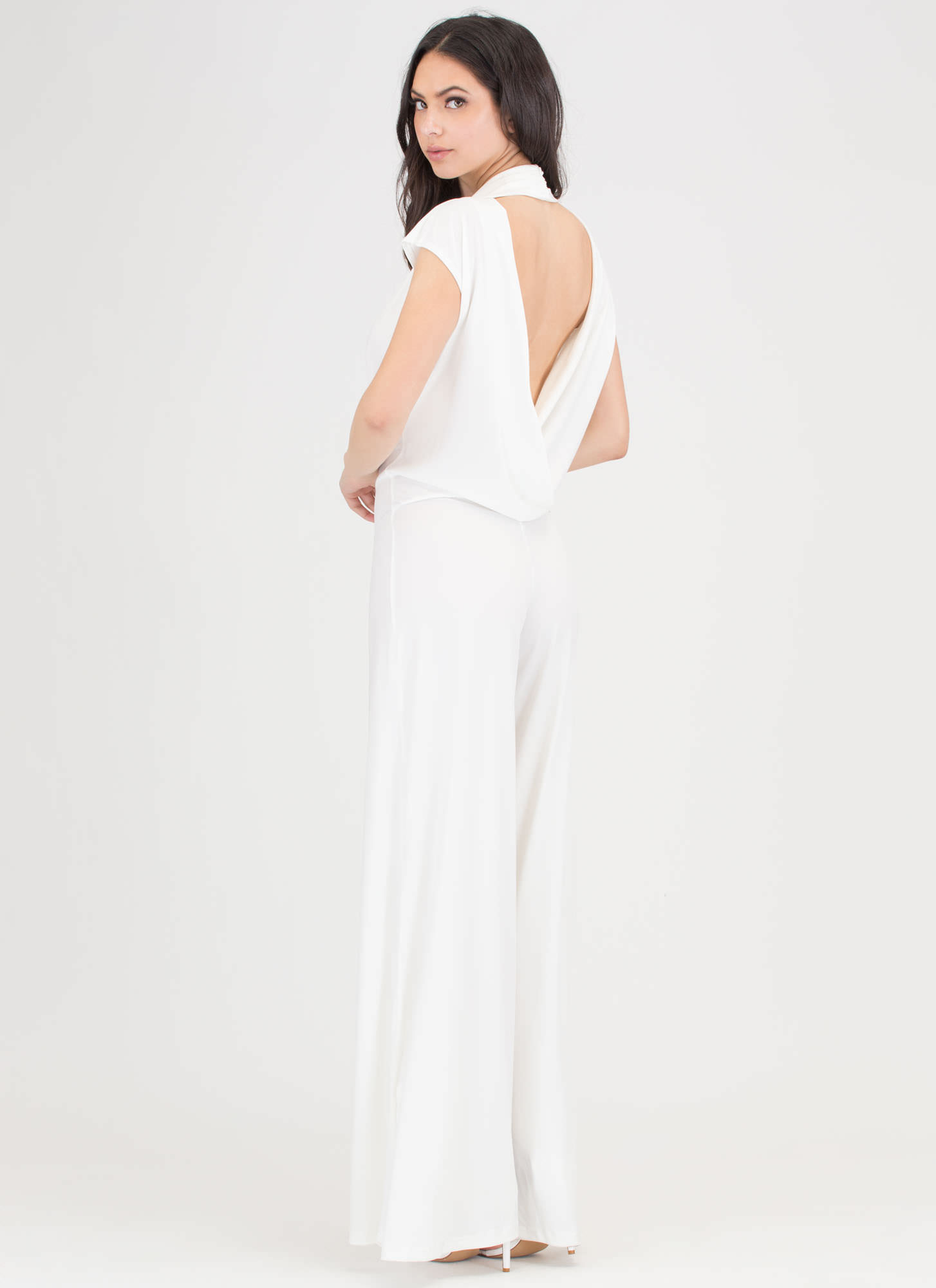 Very Tempting Wide Leg Jumpsuit IVORY