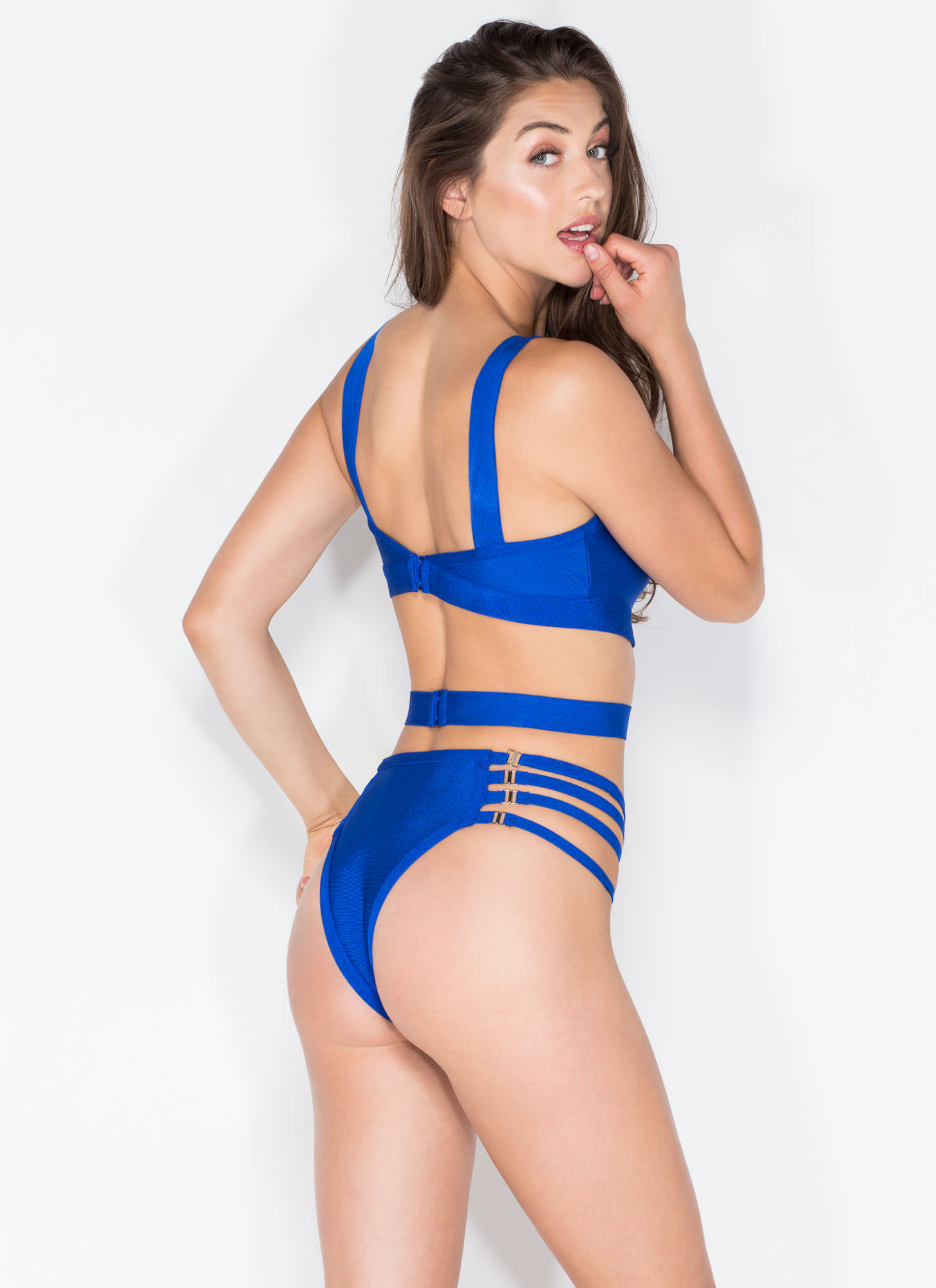 Hook It Up Bandage Swimsuit ROYAL (Final Sale)