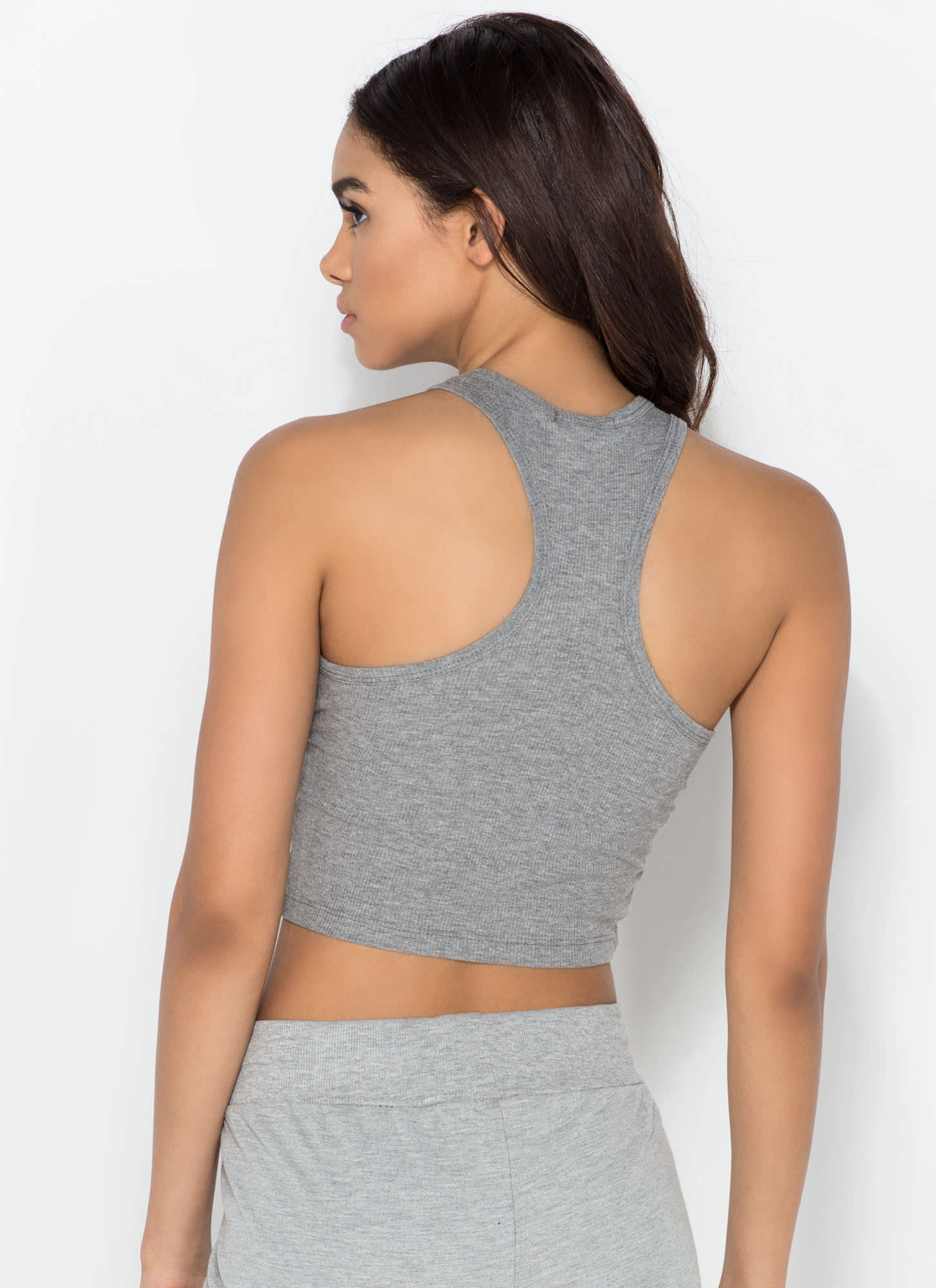 Knit It 'N Quit It Crop Top HGREY